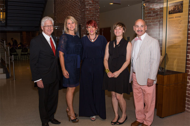 Administration Staff with Dr. Kaplan. Dr. Kaplan, Bobbie Stroud, Cynthia Brock, Erin Moody & Harry Schulman